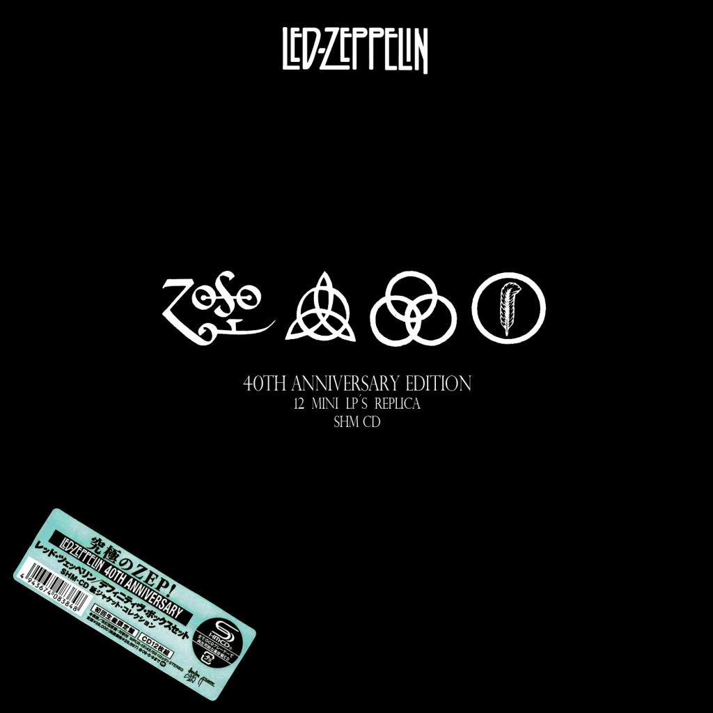led zeppelin 40th anniversary boxset definitive collection the sacred monster. Black Bedroom Furniture Sets. Home Design Ideas