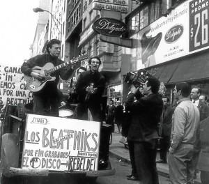 Beatniks: Moris, Pajarito, Javier Martínez, y Jorge Navarro